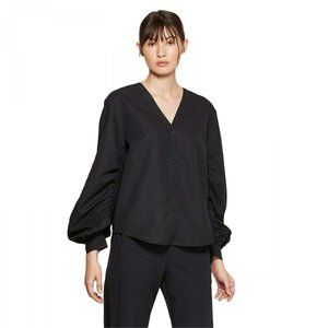 NWT Prologue Women's Long Blouse Medium Black